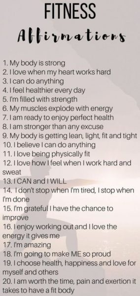 Positive Fitness Affirmations