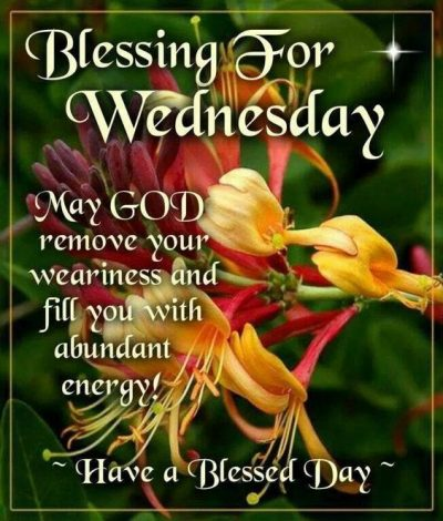 Wednesday Blessing Quotation