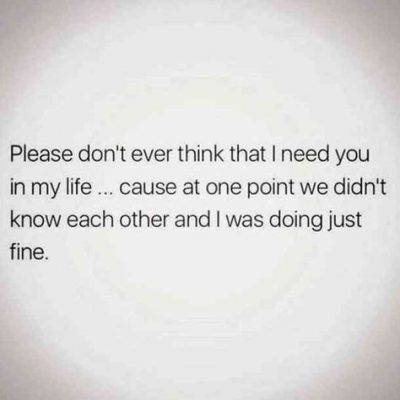 Don't Need You Quotes Images