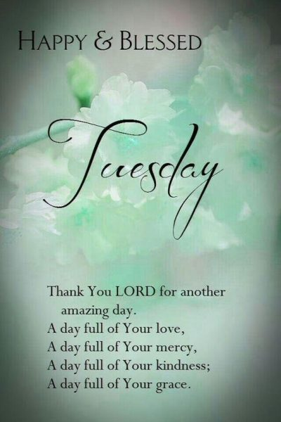 Free Tuesday Blessings Quotations