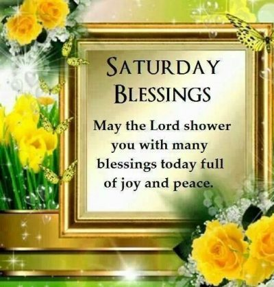God's Blessing Quote On Saturday