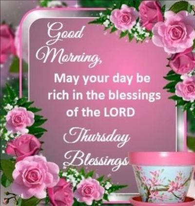 Good Morning Thursday Blessings