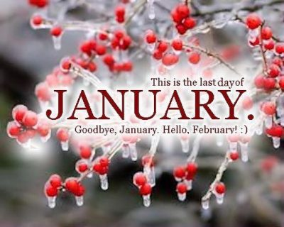 Goodbye January hello February images
