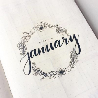 Hello January Handlettering Img
