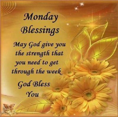 Monday Blessing Greetings