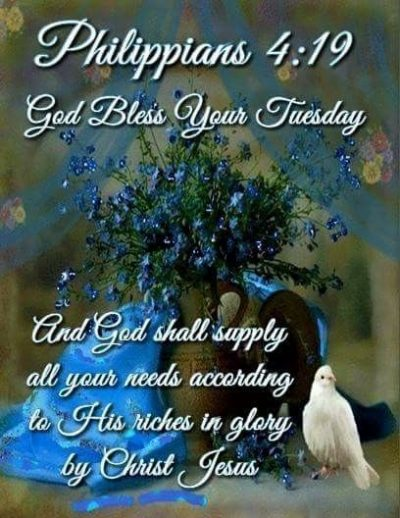 Tuesday Blessings From Bible