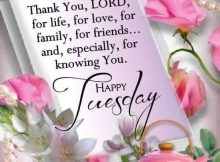 Tuesday Morning Wishes