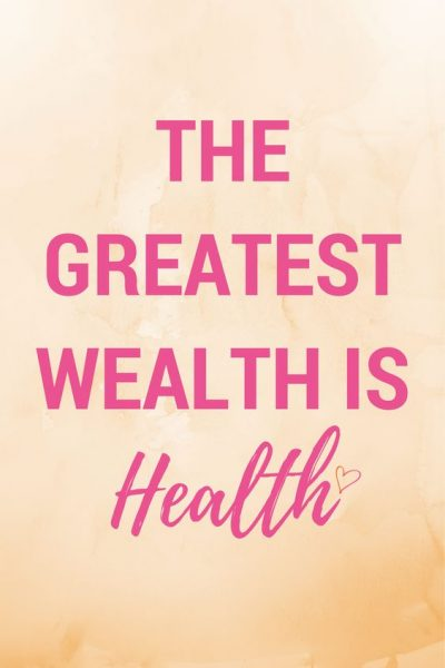 Health is wealth quotes in English