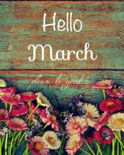 Hello March Flower Pics