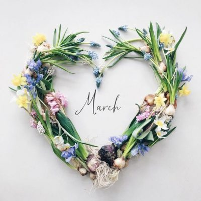 Hello March Wreath Images