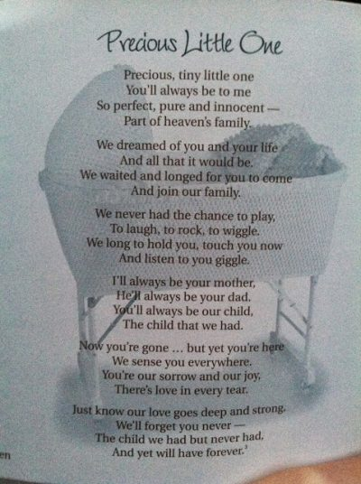 Infant Loss Quotes Poems