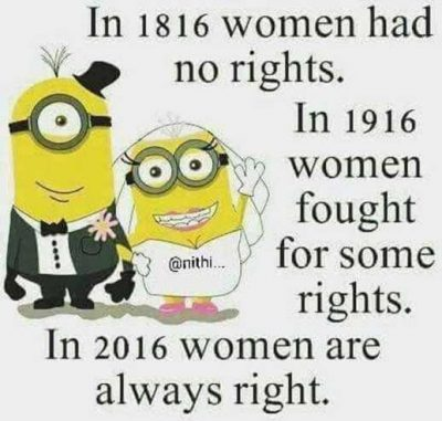 Women's Are Always Right