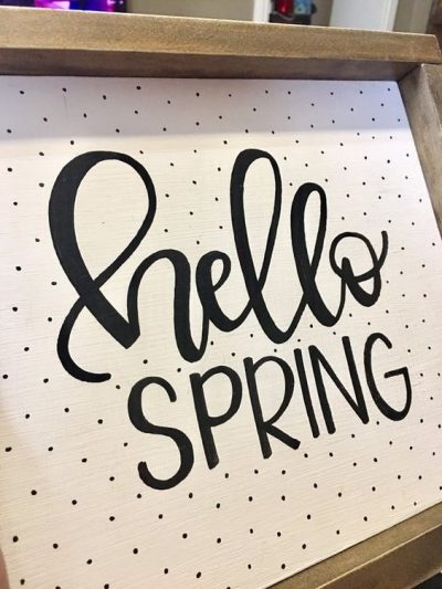 Spring Hand Lettering Picture