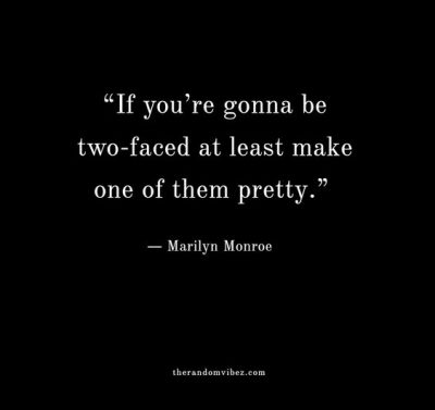 Double Faced People Quotes