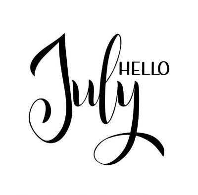 July Hand Lettering Picture