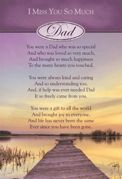 Fathers Day Poems for my Dad in Heaven