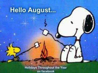 Hello August Snoopy Images