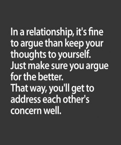 Argument In Relationship Quotes