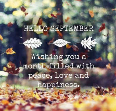 Hello September Wishes Quotes
