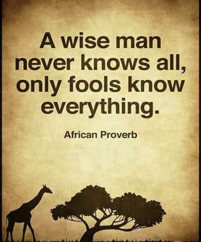 Inspirational Quotes About Know it All