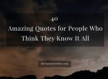 Know It All Quotes And Sayings