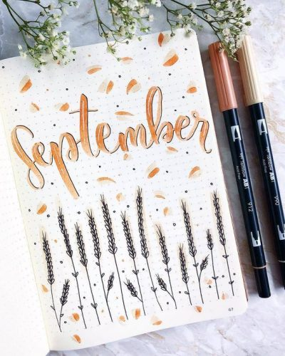 September Bullet Journal Img