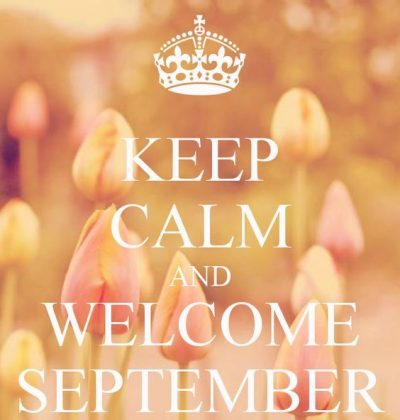 Welcome September Month 2020