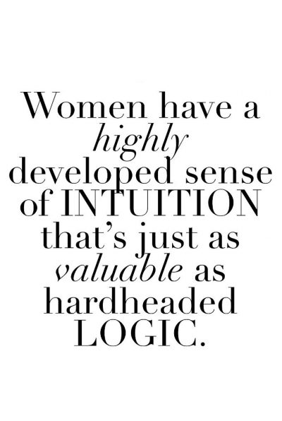Women's Intuition Quotes