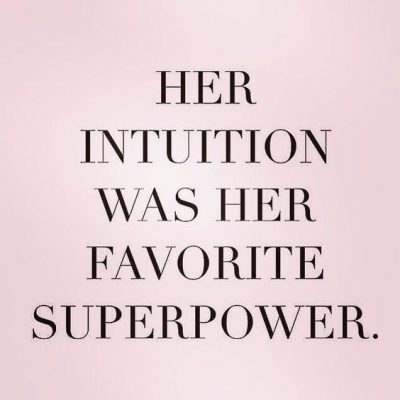 Womens Intuition Quotes Images