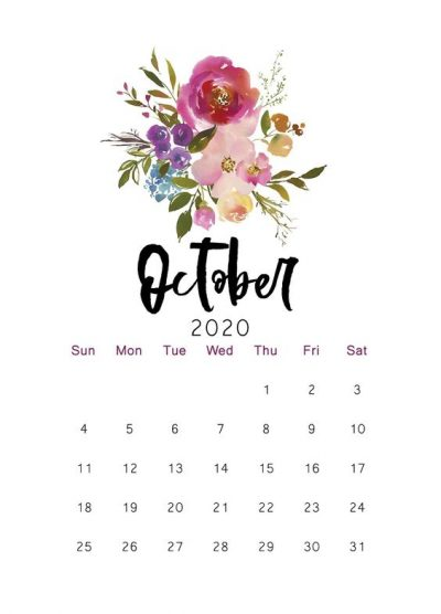 October Calendar Photos