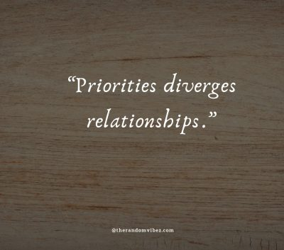 Quotes about Relationship priorities