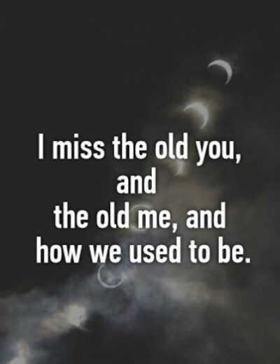 Short Quotes On Missing The Old You