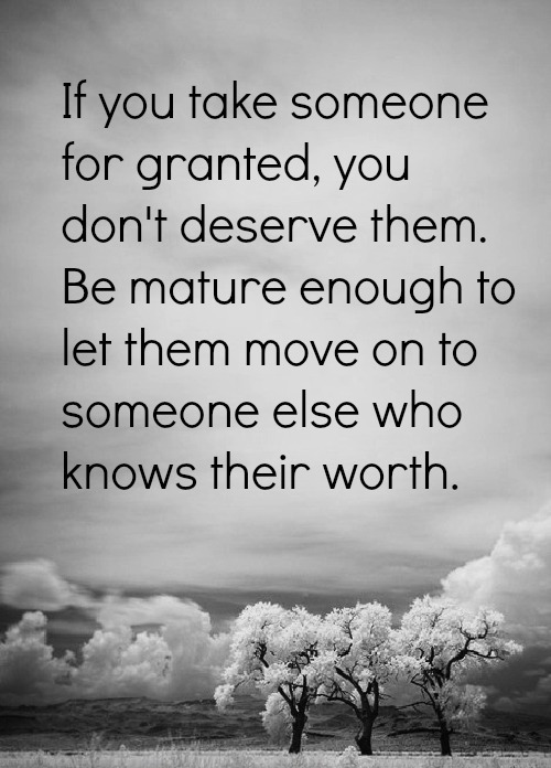 For granted you when people take What Does