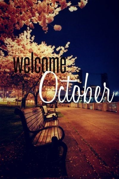 Welcome October Month 2020