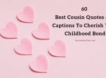 60 Best Cousin Quotes and Captions