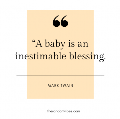 Baby is A blessing Quotes