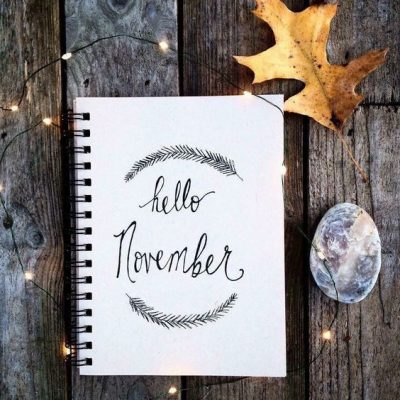 November Hand Lettering Picture