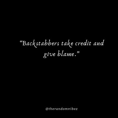 Backstabber Quotes Images