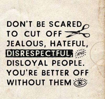 Cutting Off People Quotes