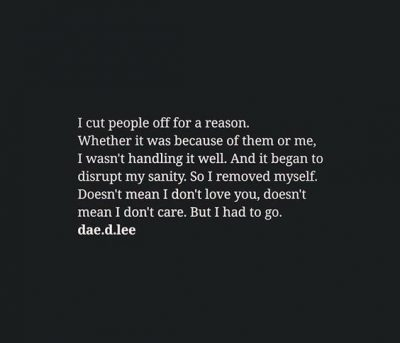 Cutting People Out Of My Life Quotes
