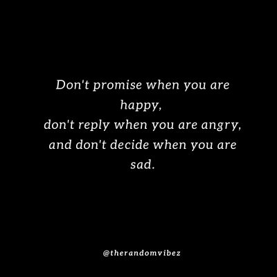 Don't Let Your Emotions Control You