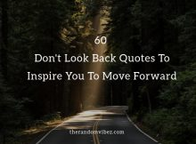 Don't Look Back Quotes and Images