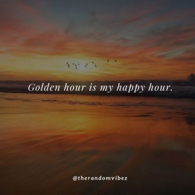 Golden Hour Sunset Quotes