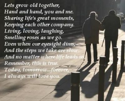 Growing Old Together Poems