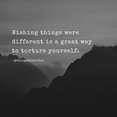 Sometimes I wish things were different