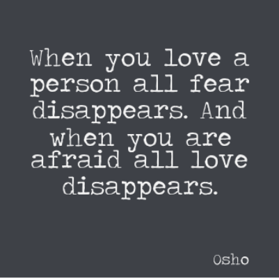 Fear of Love Picture Quotes