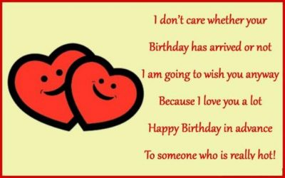 Happy Birthday In Advance Sayings