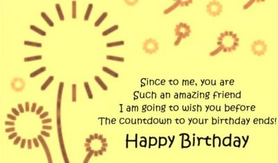 Pre-Birthday Greetings Quote