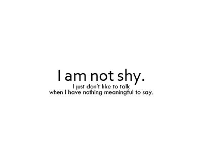 Quotes About Shy And Quiet People