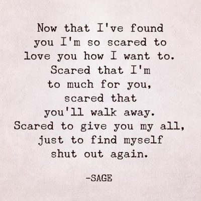 Scared To Love Quotations